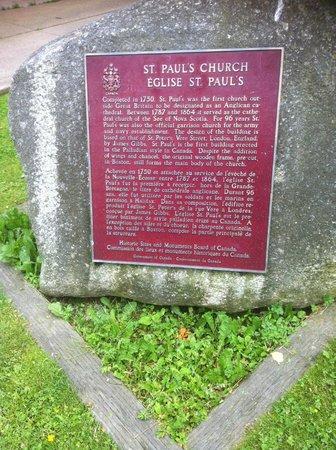 St. Paul's Church: Sign