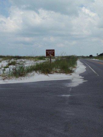 Gulf Islands National Seashore - Florida District: Entrance to Langdon Beach