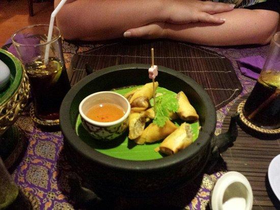 Hin Lek Fai Restaurant : Frühlingsrollen sind super lecker