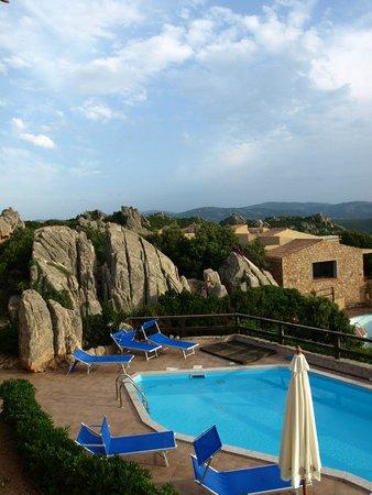 Resort Gravina - Costa Paradiso: Blick von Villa 8b auf den Pool