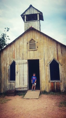 Enchanted Springs Ranch: my son loved the church