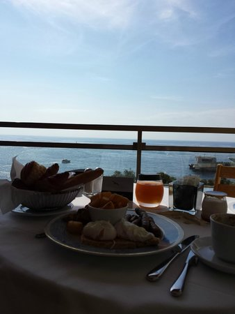 Fairmont Monte Carlo: Room Service Breakfast overlooking the Mediterranean