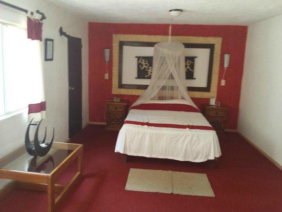 Hotel Teocalli: Interior de la habitación # 1