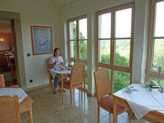 Burghotel: Sala de desayunos