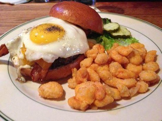 The Old Fashioned : The house burger with cheese curds!