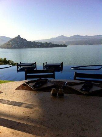 El Santuario Hotel And Spa: Desayunando con esta vista