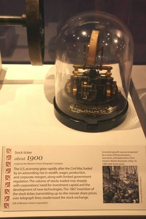 National Museum of Natural History : First Ticker on Wall Street!