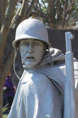 Korean War Veterans Memorial: You can see it in his eyes.