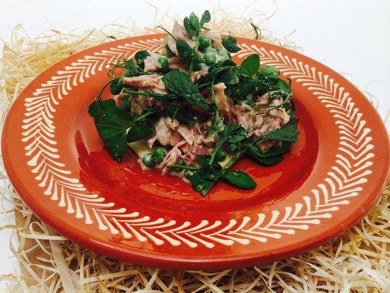 The Quai: Ham pea mustard mint salad