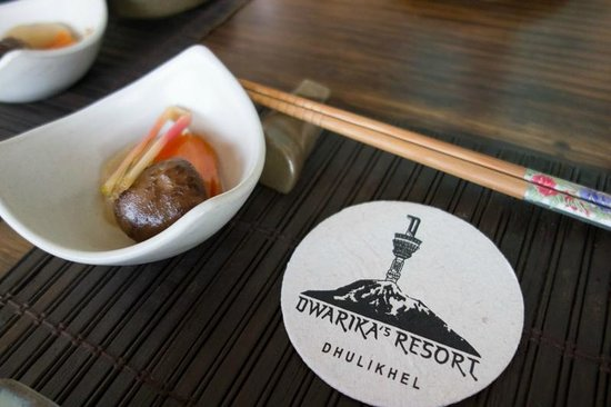 The Dwarika's Resort-Dhulikhel: Nepali, Western, and Japanese foods are all amazing.