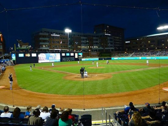 Durham Bulls Athletic Park: view from our seats