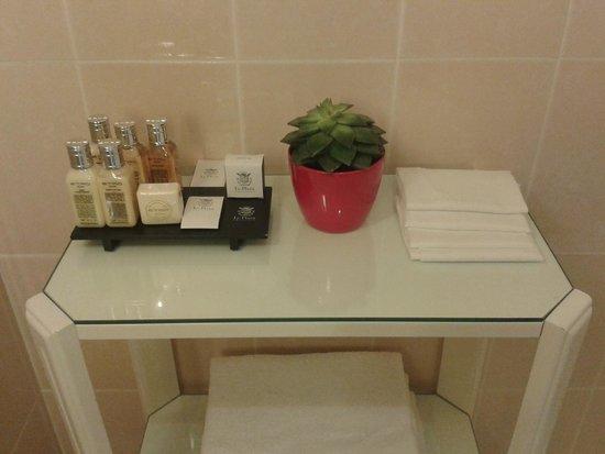 Hotel Le Plaza : Produits salle de bain