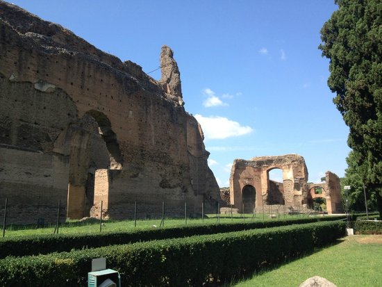 Thermes de Caracalla : Gardens near the Terme