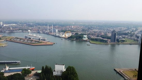Euromast Tower: Rotterdam Harbor