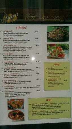 Braintree, UK: menu