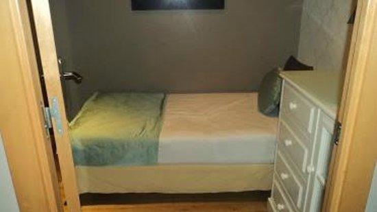 Grandom Suites: very small bedroom, door could not open fully
