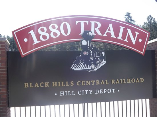 1880 Train/Black Hills Central Railroad: signage