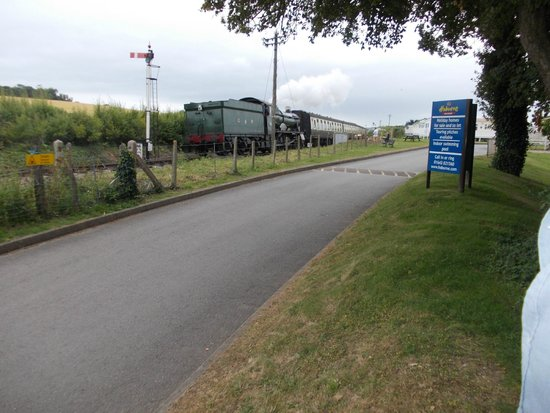Hoburne Blue Anchor: steam train from park