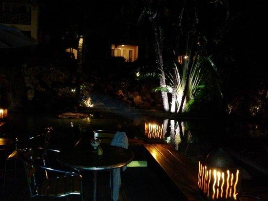 Canonnier Beachcomber Golf Resort & Spa: Giardino tropicale di sera