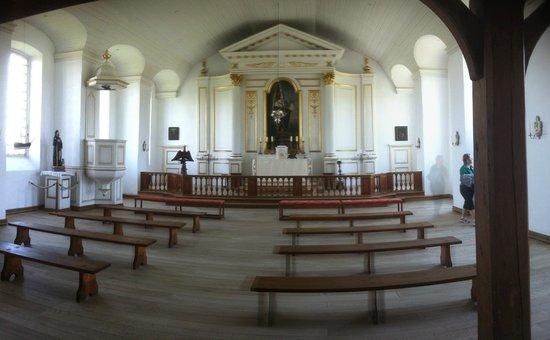 Le site historique national de la Forteresse de Louisbourg : Church inside Fort