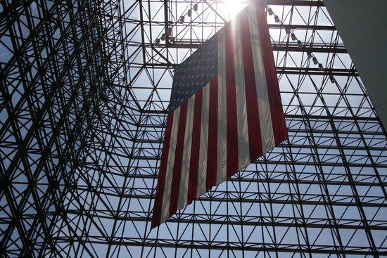 John F. Kennedy Presidential Museum & Library : Giant Flag