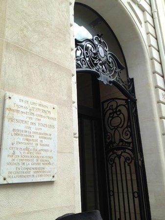 Ricki Stevenson's Black Paris Tours: The home of Thomas Jefferson and Sally Hemings