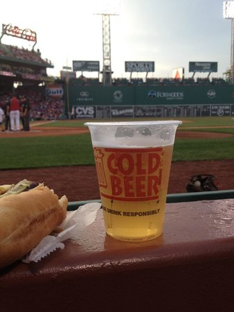 Fenway Park: View from row 1!!!