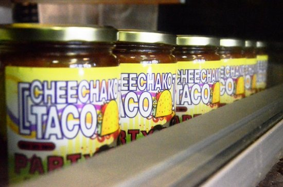 Cheechako Taco: Party salsa made in our scratch kitchen iavailable in 16oz jars.