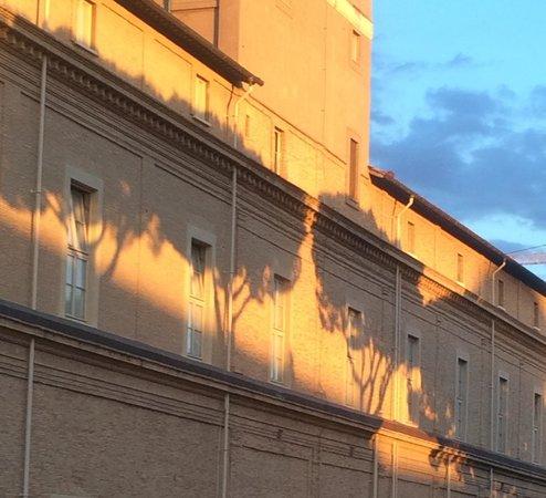 Vatikanische Museen (Musei Vaticani): Loved the shadowy graphics the Sun gave me