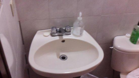 Hotel and Restaurant Sherwood: Bathroom sink
