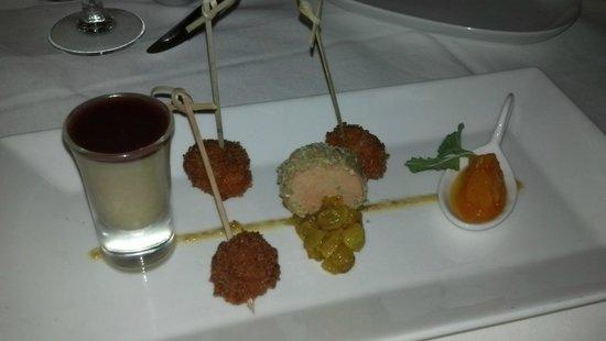 Restaurant Matisse: fois gras tasting...3 ways