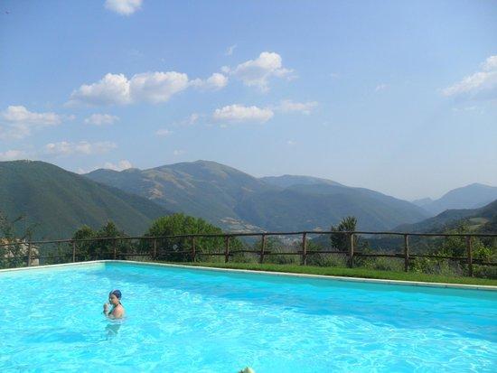 Agriturismo Roccagelli: magnifica piscina, immersa nel verde della valnerina