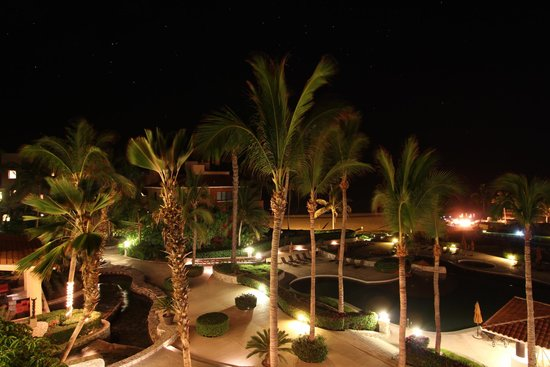 Casa del Mar Golf Resort & Spa: View from balcony at night.