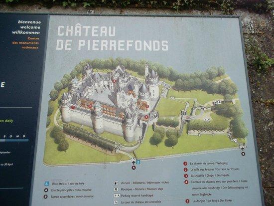 Chateau de Pierrefonds : План замка