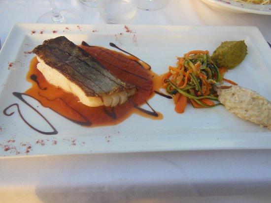 Restaurant le Marinella : cabillaud+petits légumes trop bons et risotto aux champignons idem