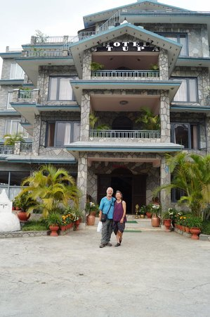 front of the hotel stupa