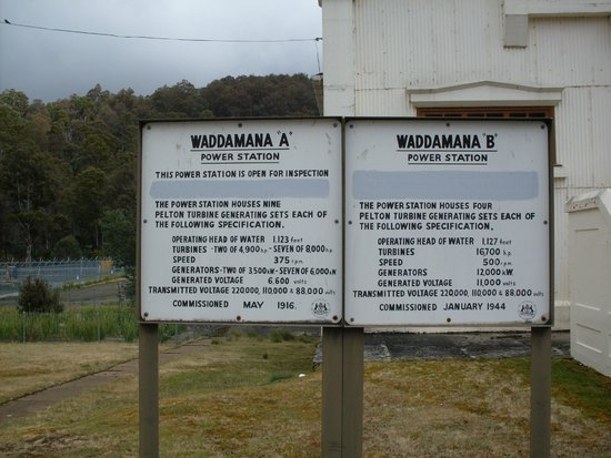 Waddamana, Austrália: power station sign