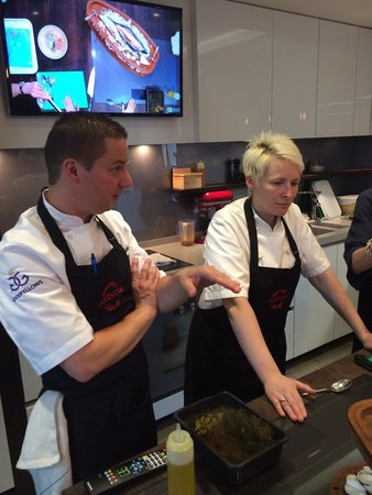 Northcote Cookery School: Lisa and Michael. Great hosts and really easy to talk to