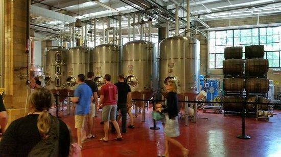 Samuel Adams Brewery : Fermenting chambers