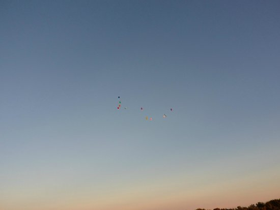 Trevayne Farm Caravan and Camping: Balloons released by a school from Bolton