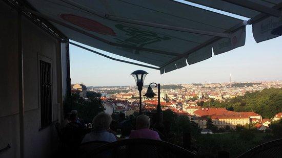 View toward Prague from Questenberk terrace