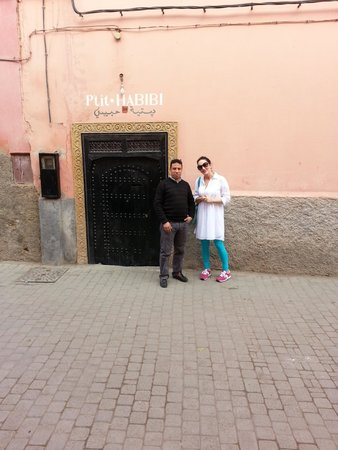 P'tit Habibi : front door with the man abdul - the main man