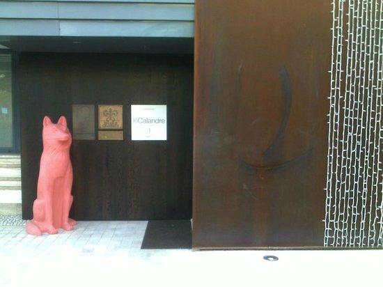 Le Calandre: entrance