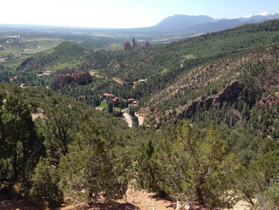 Glen Eyrie Castle & Conference Center: On property trail that takes you to view point looking at Castle and Garden of the Gods