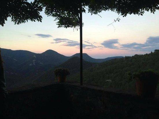 Can Coll de Pincaró: terraza
