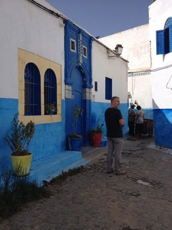 Kasbah des Oudaias : a blue door