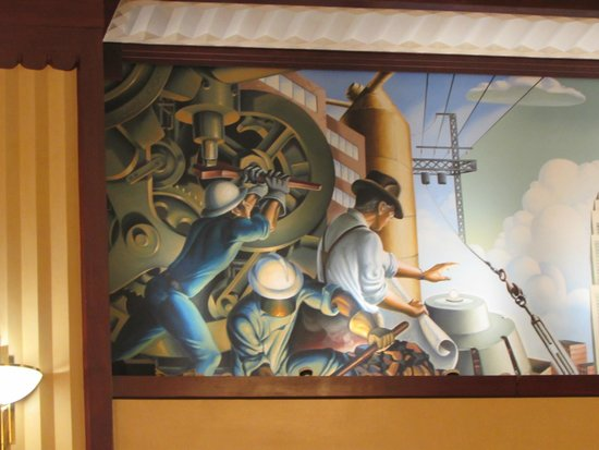Hotel Edison Times Square : 1/2 of larger wall mural from the lobby.