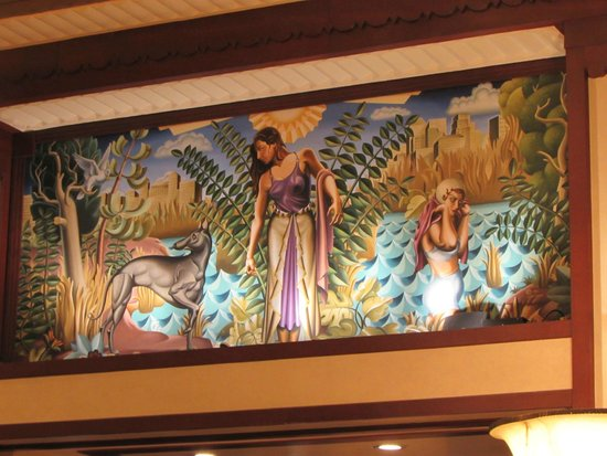 Hotel Edison Times Square: Wall mural from the lobby.