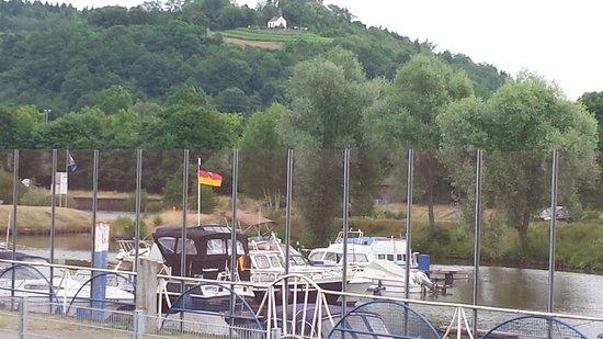 Saarfurst Merziger Brauhaus: View from the Beer Garden