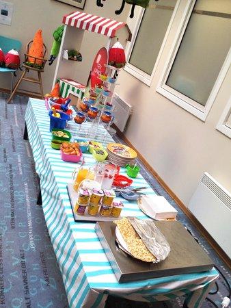 Thon Hotel Terminus : Kids' breakfast table